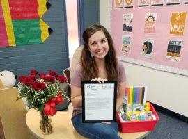 Lindsey Shotwell, September 2020 Teacher Excellence Award Winner