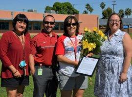 Gina Goldberg, May 2018 Teacher Excellence Award Winner