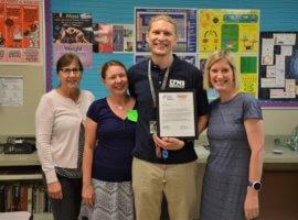 Steven Sasser, May 2018 Teacher Excellence Award Winner