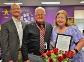 Patricia Dorgan, November 2019 Teacher Excellence Award Winner