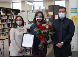 Emily Patterson, March 2021 Teacher Excellence Award Winner