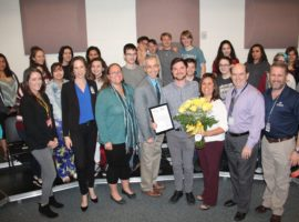 Benjamin Lebovitz, February 2018 Teacher Excellence Award Winner