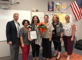 Julie Michel, September 2019 Teacher Excellence Award Winner