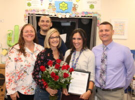 Danielle Swartz, January 2019 Teacher Excellence Award Winner