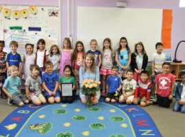 Brittany Weeks, May 2019 Teacher Excellence Award Winner