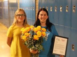 Megan Hawkes, May 2019 Teacher Excellence Award Winner