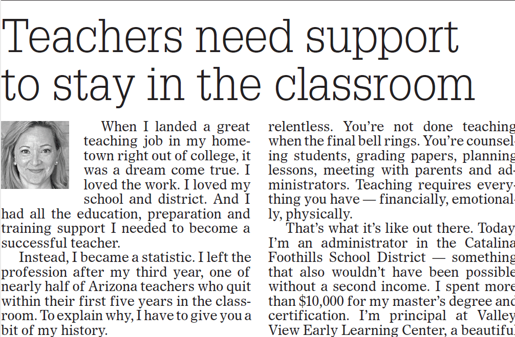 Teachers need support to stay in the classroom